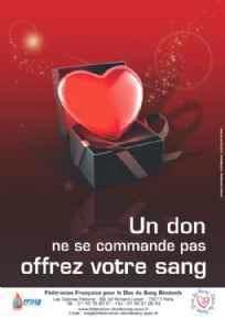 Affiche pour promouvoir le don de sang