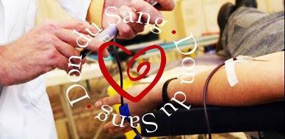 Photo d'un prélèvement du don de sang