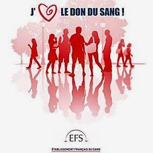 Slogan : j'aime le don du sang