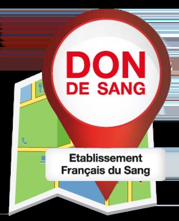 Logo de localisation du don de sang
