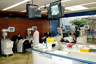 Photo d'un site fixe du don de sang