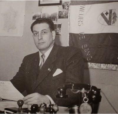 Photo de Roger Guénin, fondateur de la Fédération Française des Donneurs de Sang Bénévoles
