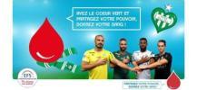 Affiche de la collecte de don du sang � l'AS Saint Etienne