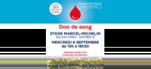 Affiche de la collecte de don du sang � Clermont-Ferrand