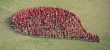 Photo de la goutte de sang g�ante r�alis�e en Nouvelle Cal�donie