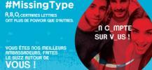 op�ration #MissingType pour promouvoir le don de sang
