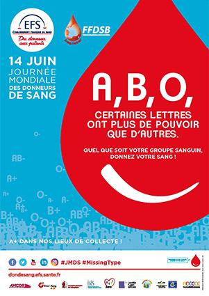 Affiche de la journée mondiale des donneurs de sang 2017