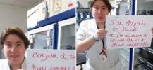 Photo d'un appel au don de sang d'un frigo en Belgique