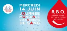 Affiche de la journ�e mondiale de donneurs de sang en France