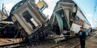 Photo de l'accident de train à Rabat (Maroc)