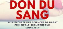 Affiche de la collecte de sang ? Rabat par le Lion's club