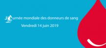 logo de la Journ�e Mondiale des Donneurs de Sang 2019