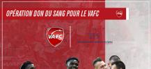 Affiche de la collecte de dons du sang de l'EFS en partenarait avec le=  VAFC