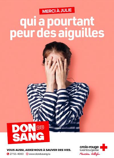 Campagne de promotion du don de sang au Luxembourg
