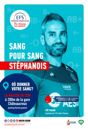 Campagne de promotion de la Maison du don de sang de Saint Etienne