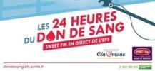 Affiche des 24 heures du don de sang au Mans