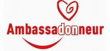 Logo de la campagne pour le don de sang : Ambassadonneur