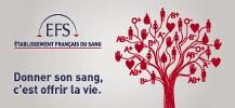 Affiche du don du sang repr�sentant un arbre