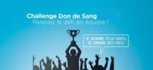 Challenge des entreprises et associations pour le don de sang