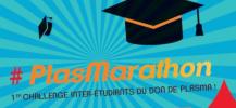Affiche pour le don de plasma : Plasmarathon