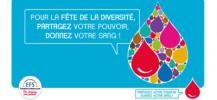Affiche de la f�te de la diversit� pour le don de sang