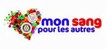 logo de mon sang pour les autres, pour le don du sang par le rotary club