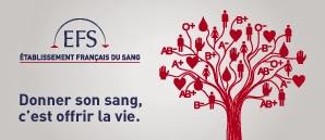 Affiche du don du sang représentant un arbre