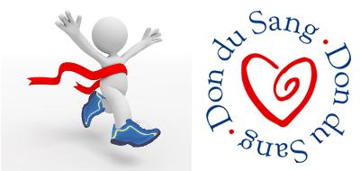 Logo des courses pour promouvoir le don du sang