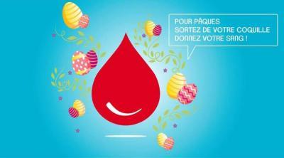 Affiche pour le don de sang pour célèbrer Pâques