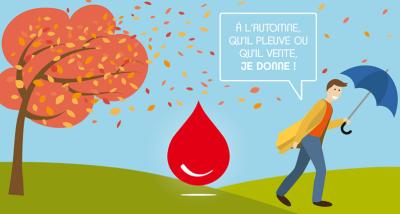 Affiche pour le don de sang en automne