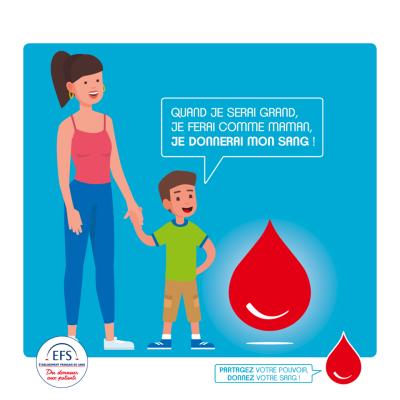 Promotion du don de sang chez les enfants