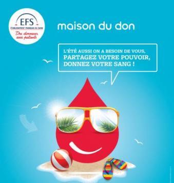 partager votre pouvoir même durant l'été (don de sang)