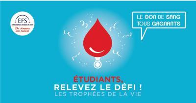 Don du sang pour les étudiants : Etudiants relevez le défi !