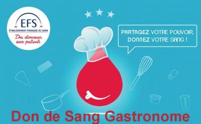 Affiche du don de sang gastronomique