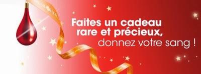 Slogan du don du sang pendant les fêtes : Faites un cadeau rare et précieux, donnez votre sang !