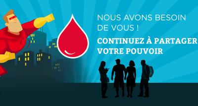 promotion du don de sang : partager votre pouvoir