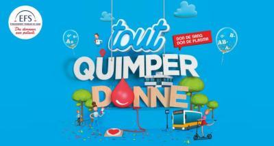 Campagne du don de sang : Tout Qimper Donne