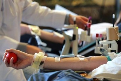 Photo d'une prélèvement de don du sang